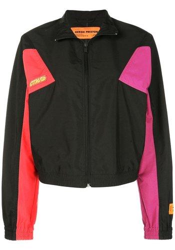 HERON PRESTON turtleneck zip jacket black multicolor