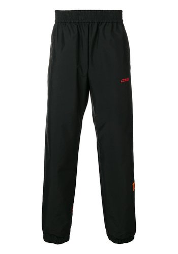 HERON PRESTON elastic nylon pants tape black red