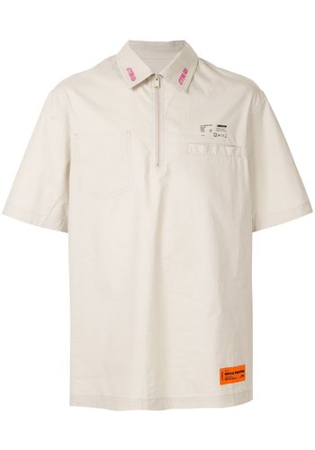HERON PRESTON стиль zip shirt ss beige