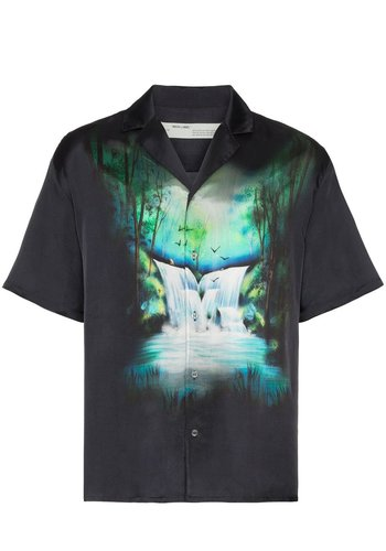 OFF-WHITE waterfall holiday shirt black multicolor