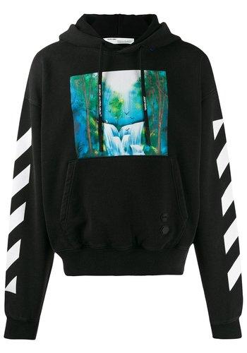 OFF-WHITE diagonal waterfall over hoodie black multi