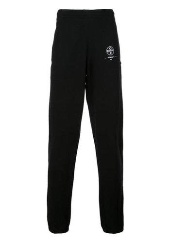 OFF-WHITE diag stencil slim sweatpants black fuchsia