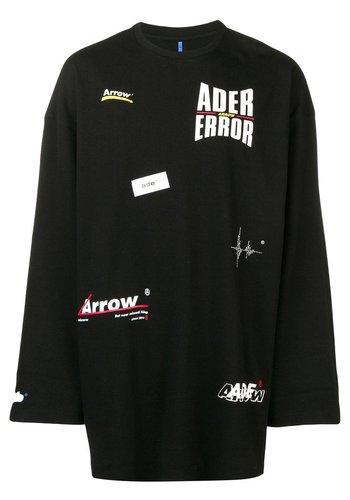 ADER ERROR multiple logo t-shirt noir