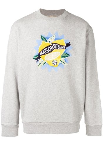 MAISON KITSUNE sweatshirt limone