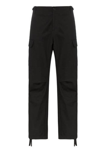 HERON PRESTON cargo pants pockets red tape black red