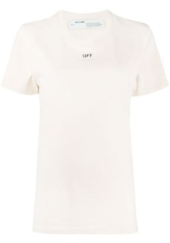 OFF-WHITE flowers carryover casual tee white bordeaux