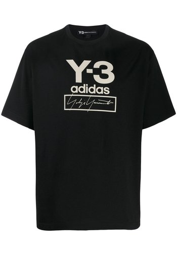 Y-3 stacked logo s/s tee