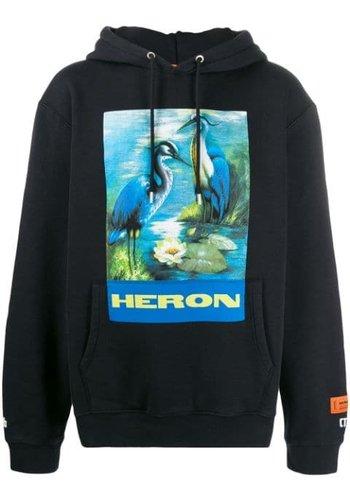 HERON PRESTON hoodie permanent off black multi