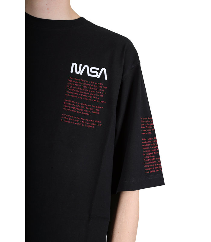 NASA OVER TSHIRT SS FACTS BLACK MULTICOL