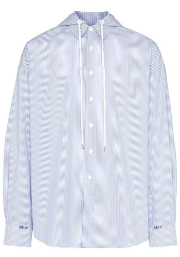 ADER ERROR chuck shirt stripe blue