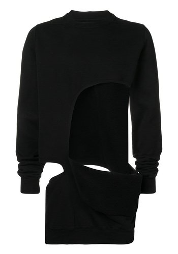 RICK OWENS DRKSHDW shred sweat black