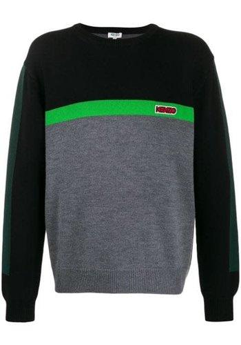 KENZO colorblock jumper black/pine