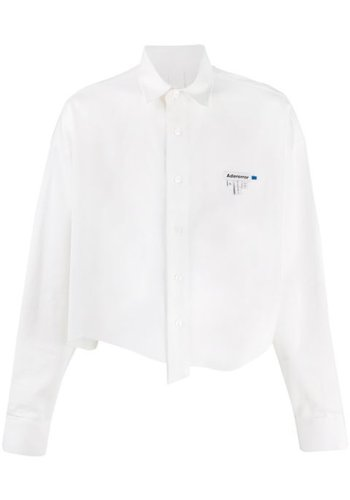ADER ERROR taillable crop shirt white