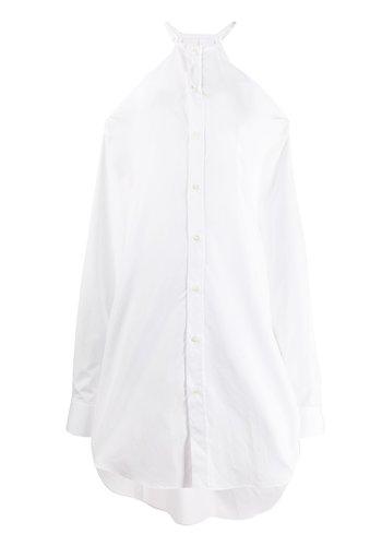 MAISON MARGIELA cut out shirt dress white