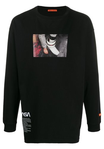 HERON PRESTON nasa reg tshirt ls photo black multi