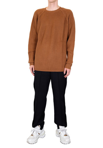 SO GOOD TO WEAR raglan rib sweater nutmeg