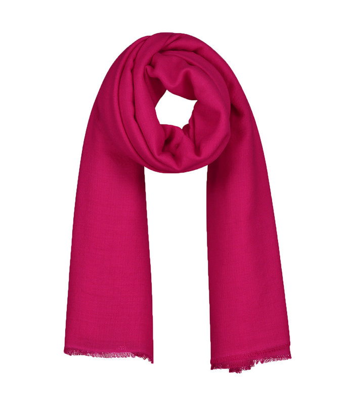 LISBON WOVEN SCARF SQUARE HOT PINK