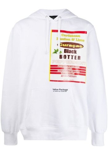BOTTER hoodie with botter badge white