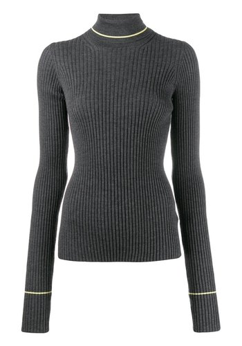 MAISON MARGIELA grey neon turtleneck knit
