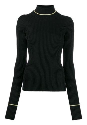 MAISON MARGIELA black neon turtleneck knit