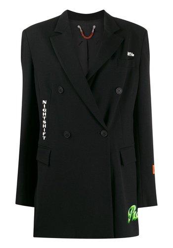 HERON PRESTON double breast blazer emb black multicolor
