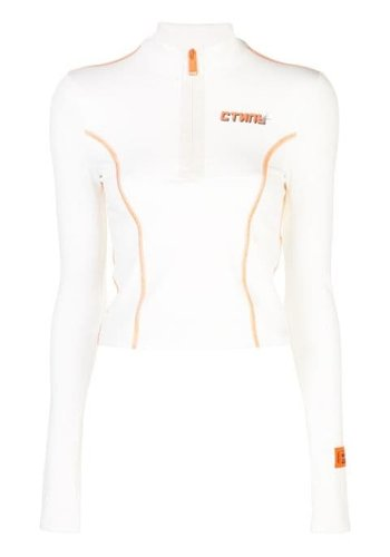 HERON PRESTON turtleneck active стиль off white orange