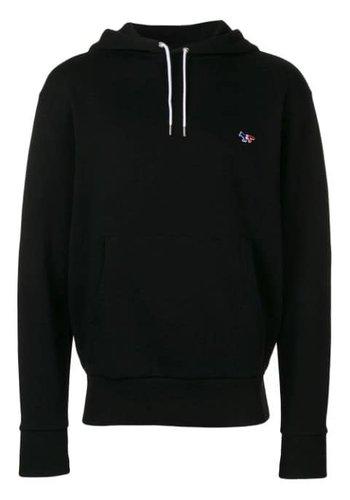 MAISON KITSUNE hoodie tricolor fox patch black