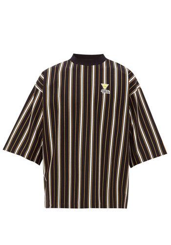 MAISON KITSUNE oversized tee-shirt stripes