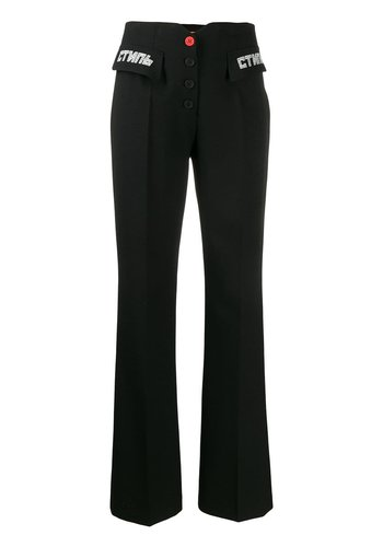 HERON PRESTON tailored pants стиль black white