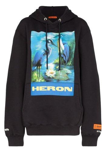 HERON PRESTON hoodie permanent off black multicolor