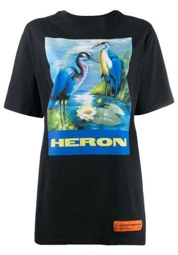 HERON PRESTON over tshirt ss permanent off black multicolor