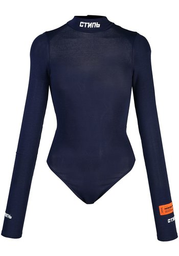 HERON PRESTON turtleneck body ls стиль dark blue white
