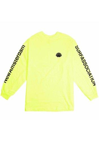 NEW AMSTERDAM SURFASSOCIATION logo longsleeve neon