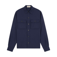 POCKETS OVERSHIRT BLUE MELANGE