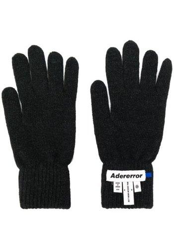ADER ERROR gloves wrist label black