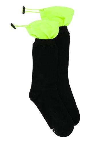 ADER ERROR layered socks black neon green