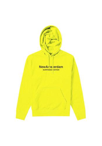 NEW AMSTERDAM SURFASSOCIATION logo hoodie neon