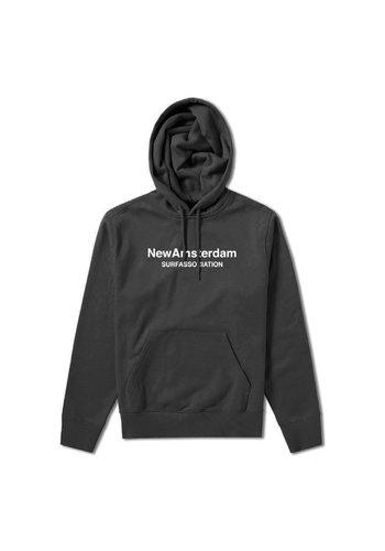 NEW AMSTERDAM SURFASSOCIATION logo hoodie black