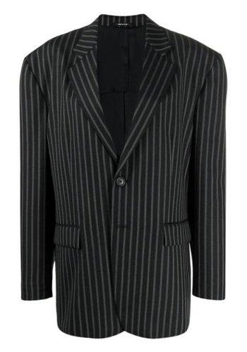 MAISON MARGIELA wool striped blazer black