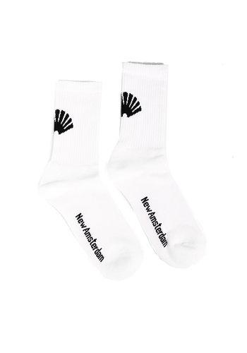 NEW AMSTERDAM SURFASSOCIATION logo socks white
