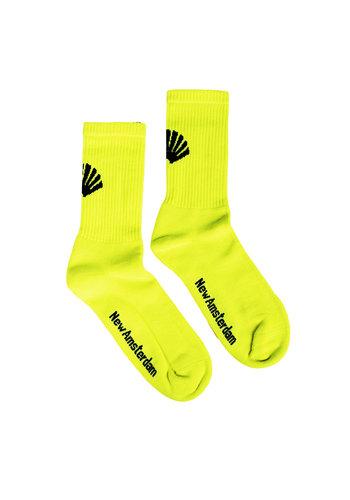 NEW AMSTERDAM SURFASSOCIATION logo socks neon