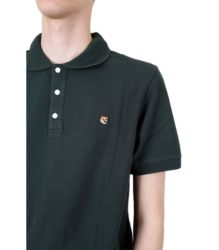 POLO FOX HEAD EMBROIDERY FOREST GREEN