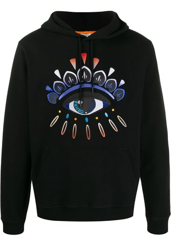 KENZO gradient eye hoodie black