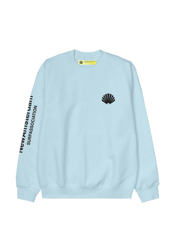 NEW AMSTERDAM SURFASSOCIATION logo sweat light blue