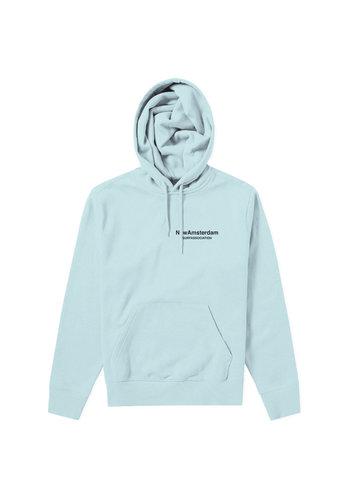NEW AMSTERDAM SURFASSOCIATION logo hoodie light blue