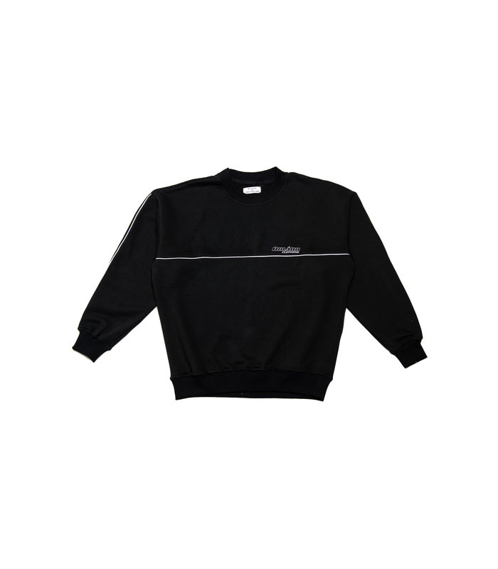 LINED SWEATER BLACK