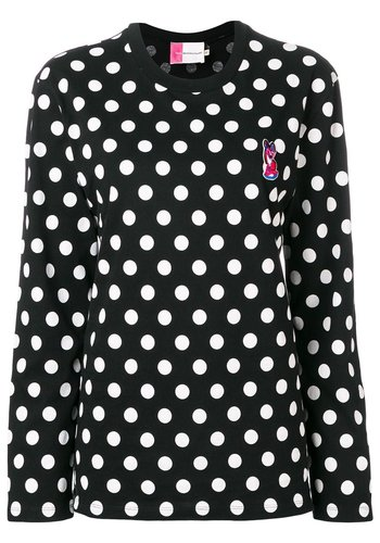 ACIDE MAISON KITSUNÉ longsleeve dots acide fox patch