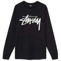 STOCK LS TEE BLACK