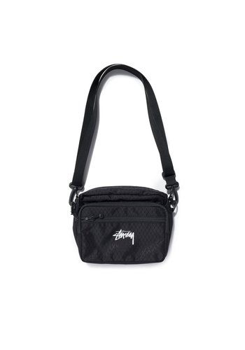 STUSSY diamond ripstop shoulder bag black