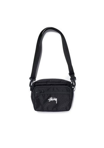 STUSSY diamond ripstop shoulder bag black